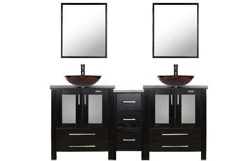 Black Bathroom Double Sink Vanity