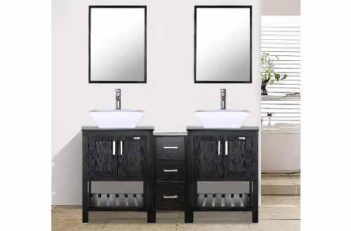 """Eclife 60"""" Double Sink Vanities"""